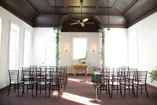 This small chapel can accommodate up to 50 guests.